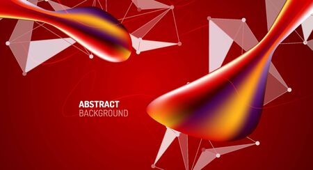 Fluid gradients, abstract liquid bubble shapes background