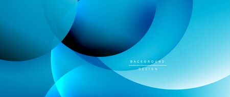 Circle modern geometric abstract background with liquid gradients