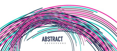 abstract moving colorful lines vector backgrounds for cover, placard, poster, banner or flyer Foto de archivo - 150120090