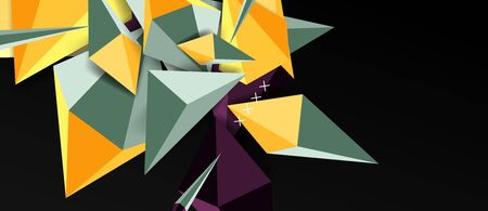 Trendy simple triangle abstract background, dynamic motion concept. Vector Illustration For Wallpaper, Banner, Background, Card, Book Illustration, landing page Illusztráció