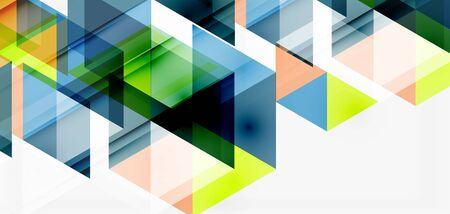 Geometric abstract background, mosaic triangle and hexagon shapes. Trendy abstract layout template for business or technology presentation, internet poster or web brochure cover, wallpaper Illusztráció