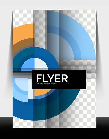 Circle design a4 flyer print template, annual report design Foto de archivo - 150120168