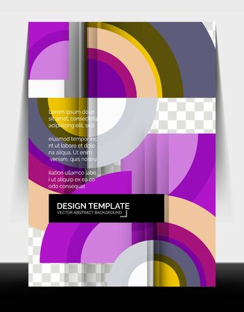 Circle design a4 flyer print template, annual report design Foto de archivo - 150120304