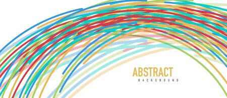 abstract moving colorful lines vector backgrounds for cover, placard, poster, banner or flyer Foto de archivo - 150120217