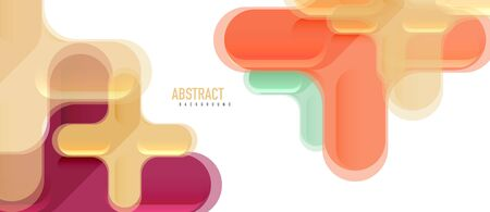 Glossy multicolored plastic style cross composition, x shape design, techno geometric modern abstract background. Trendy abstract layout template for business or technology presentation, internet poster or web brochure cover Vectores