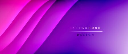 Fluid gradient waves with shadow lines and glowing light effect, modern flowing motion abstract background for cover, placards, poster, banner or flyer Banque d'images - 150157127