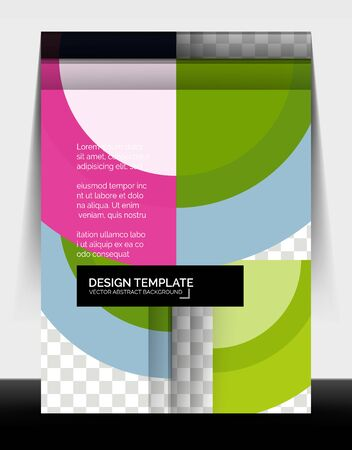 Circle design a4 flyer print template, annual report design Stock fotó - 150381921