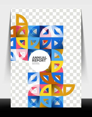 Business flyer annual report, circle and triangle shapes modern design Stock fotó - 150382330