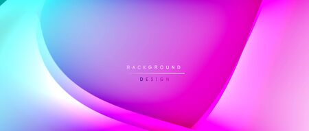 Fluid gradient waves with shadow lines and glowing light effect, modern flowing motion abstract background for cover, placards, poster, banner or flyer 일러스트