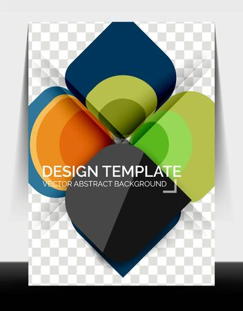 Business annual report brochure template, A4 size covers created with geometric modern patterns Foto de archivo - 150473950