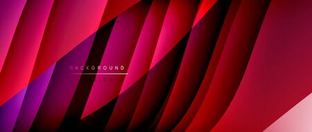Fluid gradient waves with shadow lines and glowing light effect, modern flowing motion abstract background for cover, placards, poster, banner or flyer Ilustrace