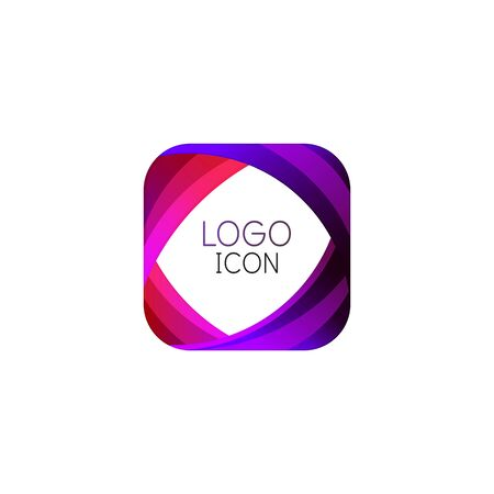 Business trendy geometric square design template with bright clean colors 向量圖像