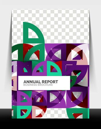 Business flyer annual report, circle and triangle shapes modern design