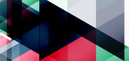 Geometric abstract background, mosaic triangle and hexagon shapes. Trendy abstract layout template for business or technology presentation, internet poster or web brochure cover, wallpaper Stock Illustratie