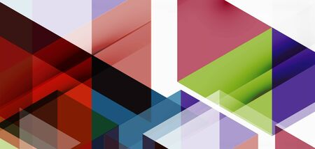 Geometric abstract background, mosaic triangle and hexagon shapes. Trendy abstract layout template for business or technology presentation, internet poster or web brochure cover, wallpaper Vectores