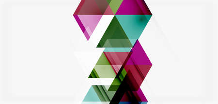 Geometric abstract background, mosaic triangle and hexagon shapes. Trendy abstract layout template for business or technology presentation, internet poster or web brochure cover, wallpaper Ilustração