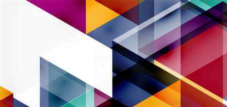 Geometric abstract background, mosaic triangle and hexagon shapes. Trendy abstract layout template for business or technology presentation, internet poster or web brochure cover, wallpaper Imagens - 150591996