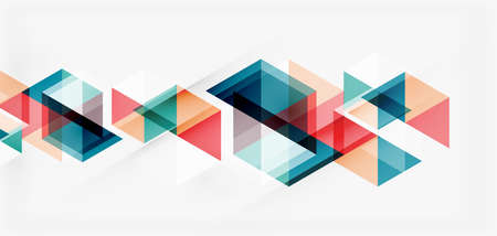 Geometric abstract background, mosaic triangle and hexagon shapes. Trendy abstract layout template for business or technology presentation, internet poster or web brochure cover, wallpaper Imagens - 150628908