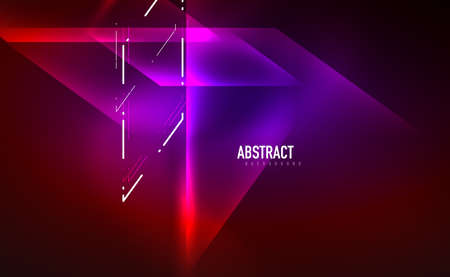 Dynamic neon shiny abstract background. Trendy abstract layout template for business or technology presentation, internet poster or web brochure cover, wallpaper