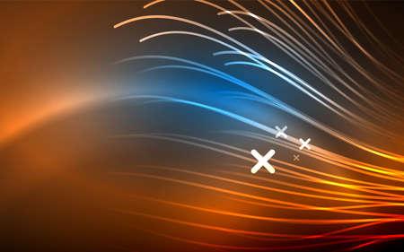 Abstract background - blue neon line design for Wallpaper, Banner, Background, Card, Book Illustration, landing page Illustration
