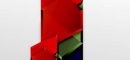 Metal glossy shiny geometric shapes with 3d effect composition. Techno futuristic vector abstract background For Wallpaper, Banner, Background, Card, Book Illustration, landing page 矢量图像