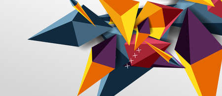 Trendy simple triangle abstract background, dynamic motion concept. Vector Illustration For Wallpaper, Banner, Background, Card, Book Illustration, landing page Illustration