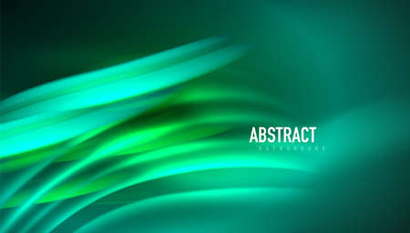 Fluid wave lines background. Trendy abstract layout template for business or technology presentation, internet poster or web brochure cover, wallpaper Illustration
