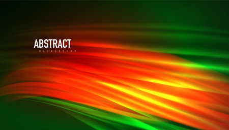 Fluid wave lines background. Trendy abstract layout template for business or technology presentation, internet poster or web brochure cover, wallpaper 矢量图像