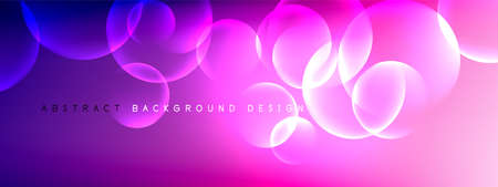 Vector abstract background liquid bubble circles on fluid gradient with shadows and light effects. Shiny design templates for text Banque d'images - 150755981