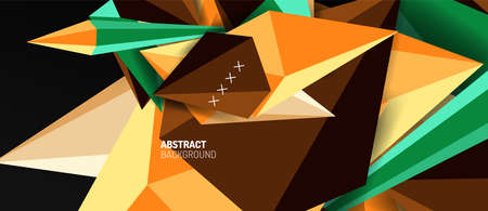 Trendy simple triangle abstract background, dynamic motion concept. Vector Illustration For Wallpaper, Banner, Background, Card, Book Illustration, landing page Banque d'images - 150756222