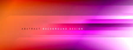 Motion concept neon shiny lines on liquid color gradients abstract backgrounds. Dynamic shadows and lights templates for text Banque d'images - 150755970