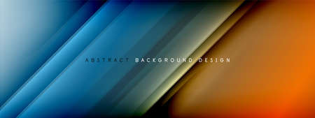 Motion concept neon shiny lines on liquid color gradients abstract backgrounds. Dynamic shadows and lights templates for text Banque d'images - 150755932