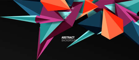 Trendy simple triangle abstract background, dynamic motion concept. Vector Illustration For Wallpaper, Banner, Background, Card, Book Illustration, landing page Banque d'images - 150756731