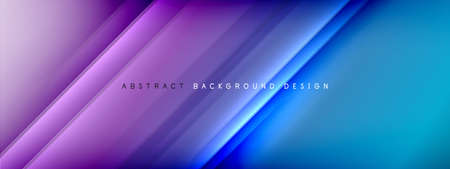 Motion concept neon shiny lines on liquid color gradients abstract backgrounds. Dynamic shadows and lights templates for text Stockfoto - 151068896