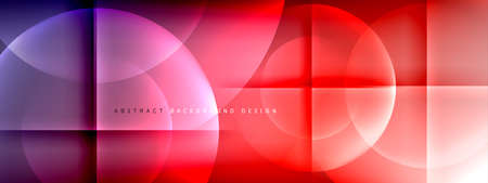 Vector abstract background - circle and cross on fluid gradient with shadows and light effects. Techno or business shiny design templates for text Illusztráció