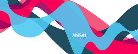 Fluid wave colorful abstract background. Dynamic colorful vibrant vector design Illusztráció