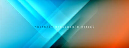 Motion concept neon shiny lines on liquid color gradients abstract backgrounds. Dynamic shadows and lights templates for text Stockfoto - 151070173
