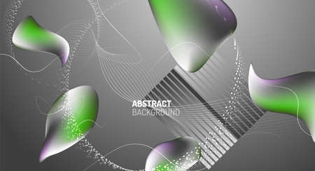 Fluid liquid color gradient background design. Vector illustration Illusztráció