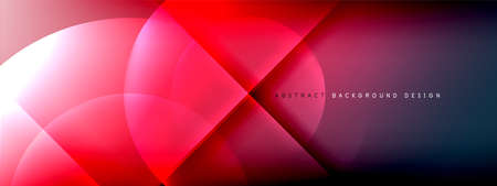 Vector abstract background - circle and cross on fluid gradient with shadows and light effects. Techno or business shiny design templates for text Ilustração