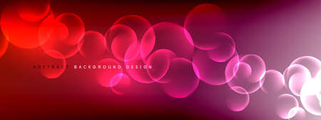 Vector abstract background liquid bubble circles on fluid gradient with shadows and light effects. Shiny design templates for text