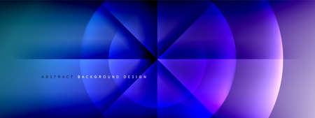 Vector abstract background - circle and cross on fluid gradient with shadows and light effects. Techno or business shiny design templates for text 向量圖像