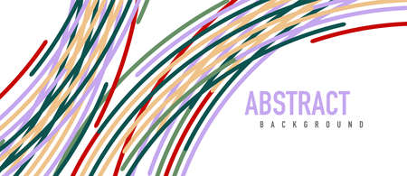 abstract moving colorful lines vector backgrounds for cover, placard, poster, banner or flyer
