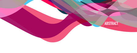 Fluid wave colorful abstract background. Dynamic colorful vibrant vector design Stock Illustratie
