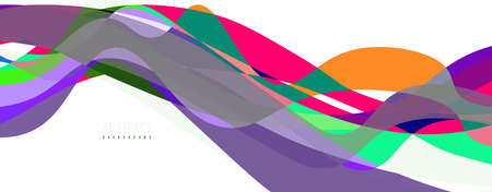 Fluid wave colorful abstract background. Dynamic colorful vibrant vector design 矢量图像