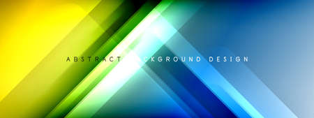 Motion concept neon shiny lines on liquid color gradients abstract backgrounds. Dynamic shadows and lights templates for text 免版税图像 - 151149415