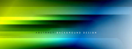 Motion concept neon shiny lines on liquid color gradients abstract backgrounds. Dynamic shadows and lights templates for text 免版税图像 - 151148914