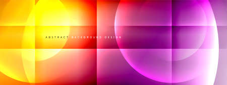 Vector abstract background - circle and cross on fluid gradient with shadows and light effects. Techno or business shiny design templates for text Ilustracja