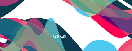 Fluid wave colorful abstract background. Dynamic colorful vibrant vector design 向量圖像