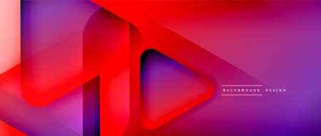 Triangle shapes geometric abstract background. 3D shadow effects and fluid gradients. Modern overlapping forms wallpaper for your text message Ilustrace