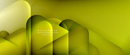 Triangle shapes geometric abstract background. 3D shadow effects and fluid gradients. Modern overlapping forms wallpaper for your text message Ilustracja